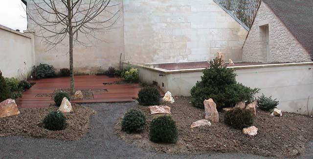 Photo de la conception et réalisation du jardin terrasse