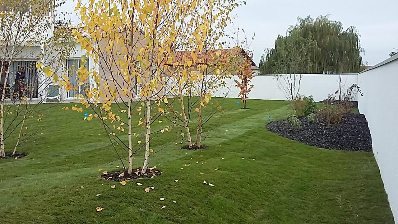 Cr ation jardin avec gazon de placage seilh brin de nature for Devis gazon jardin