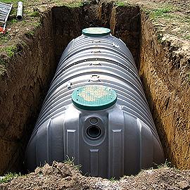Mise en place d'une cuve de récupération des eaux de pluies